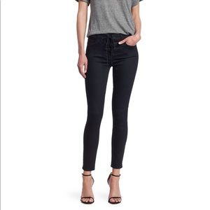 JOLT Lace Front Skinny Jeans